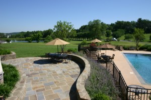 landscape sitting walls design & construction Howard County, Baltimore, Carroll, Frederick & Montgomery counties.